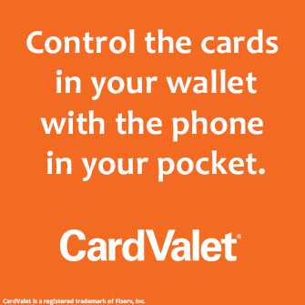 Control the cards in your wallet with the phone in your pocket. - CardValet