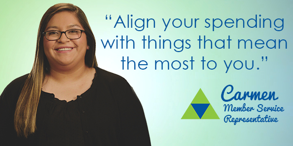 Align your spending with the things that mean the most to you.