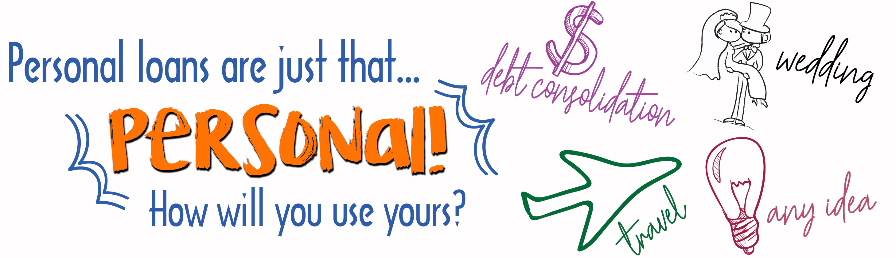 Personal loans are just that... personal! How will you use yours?