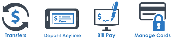 transfers deposit anytime bill pay manage cards