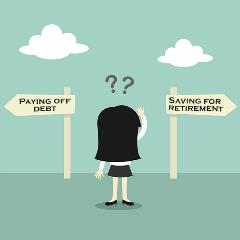 Saving for Retirement While Paying Down Debt Article